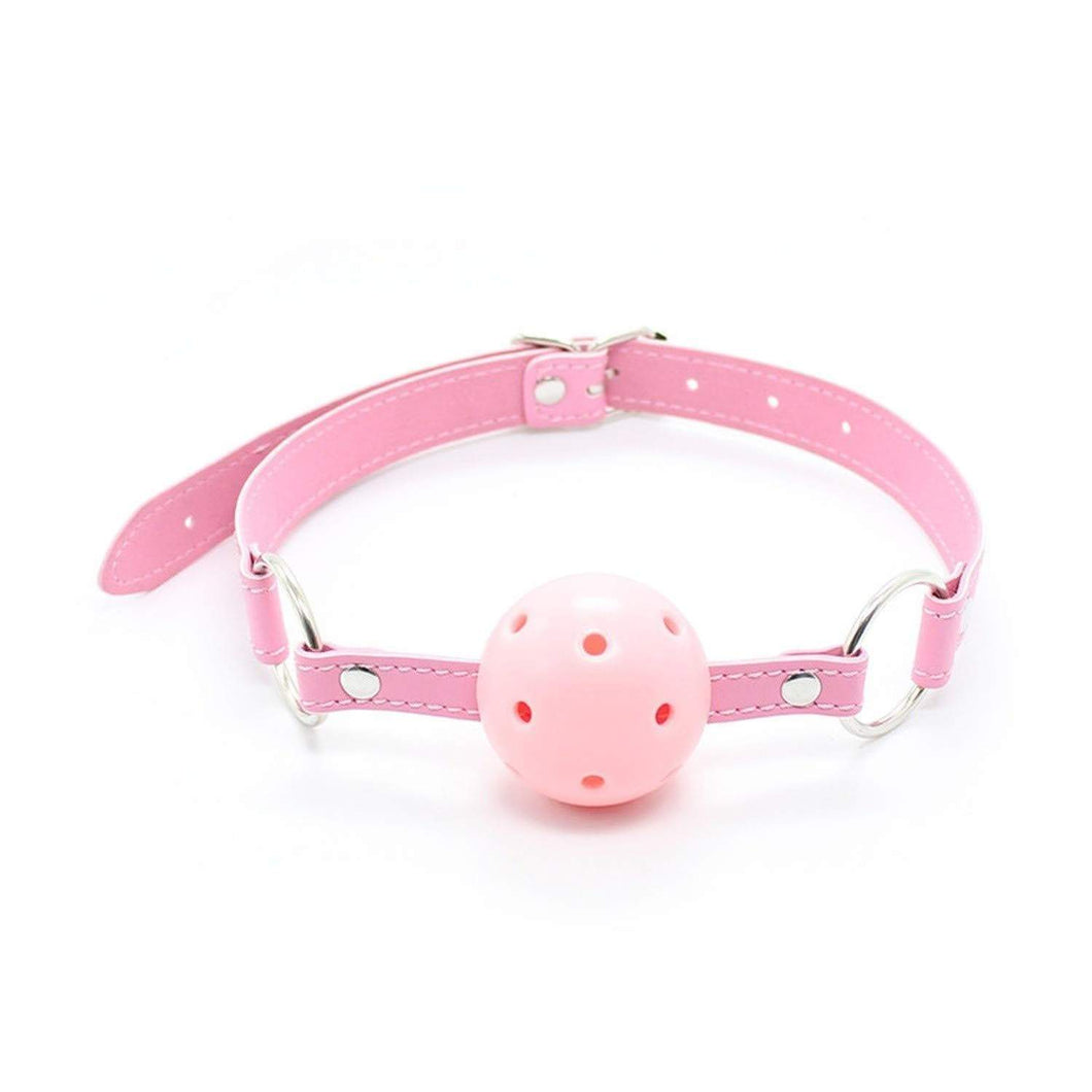 Kinky Cloth Pink Hollow ball Pink Ball Mouth Choker