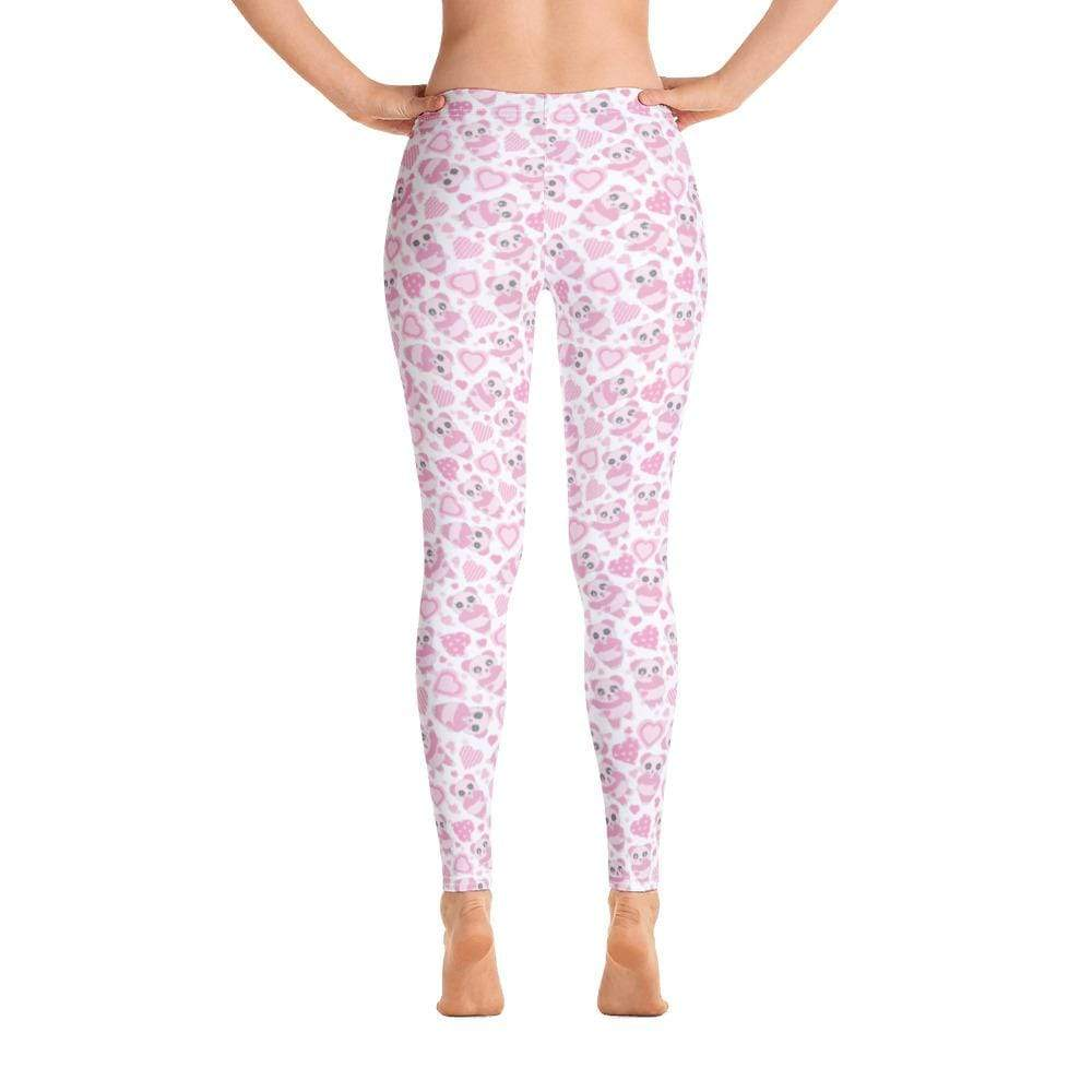 Kinky Cloth XS Pink Panda Heart Leggings