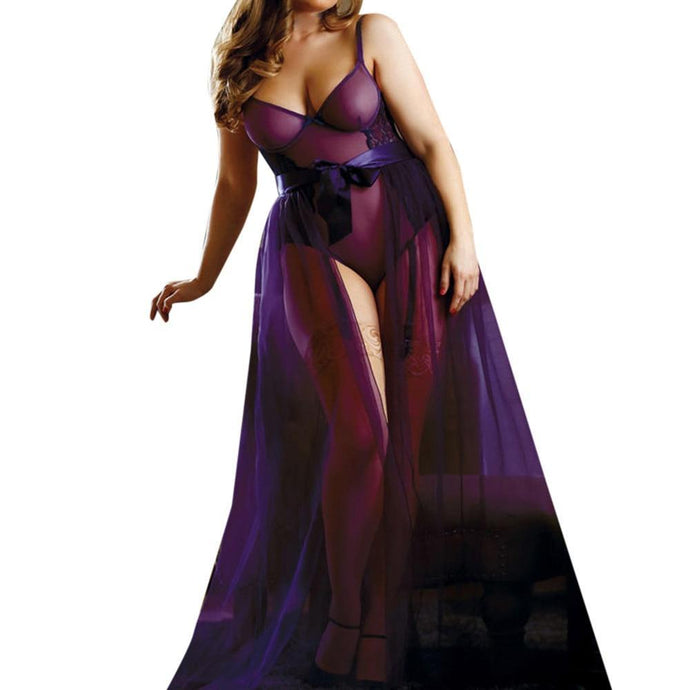 Kinky Cloth Lingerie Plus Size Maxi Skirt Teddy