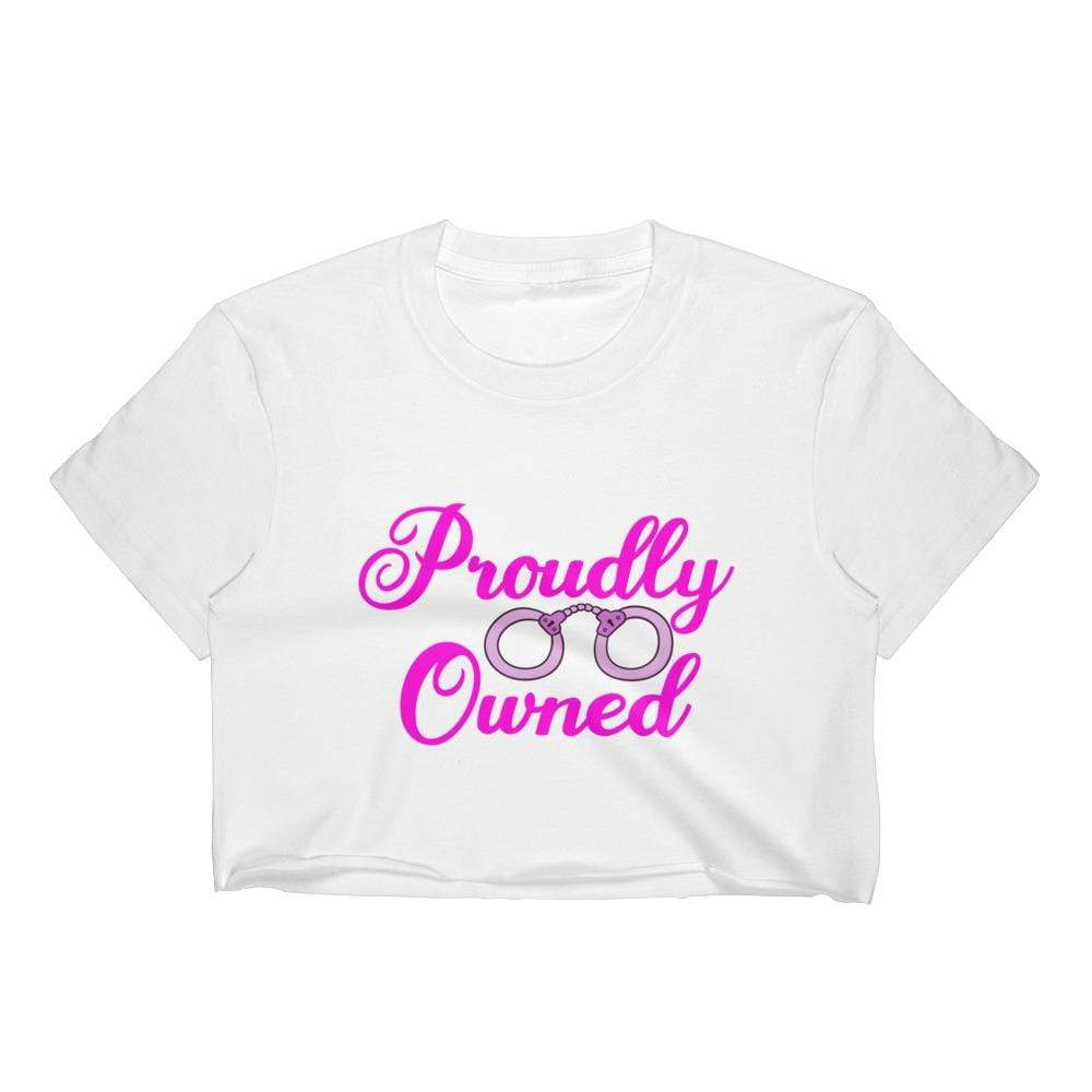 Kinky Cloth White / S Proudly Owned Crop Top