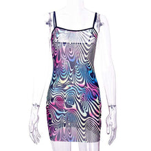 Load image into Gallery viewer, Kinky Cloth Psychedelic Mini Dress