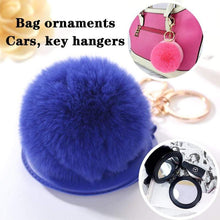 Kinky Cloth 200000174 Puff Ball Mirror Key Chain