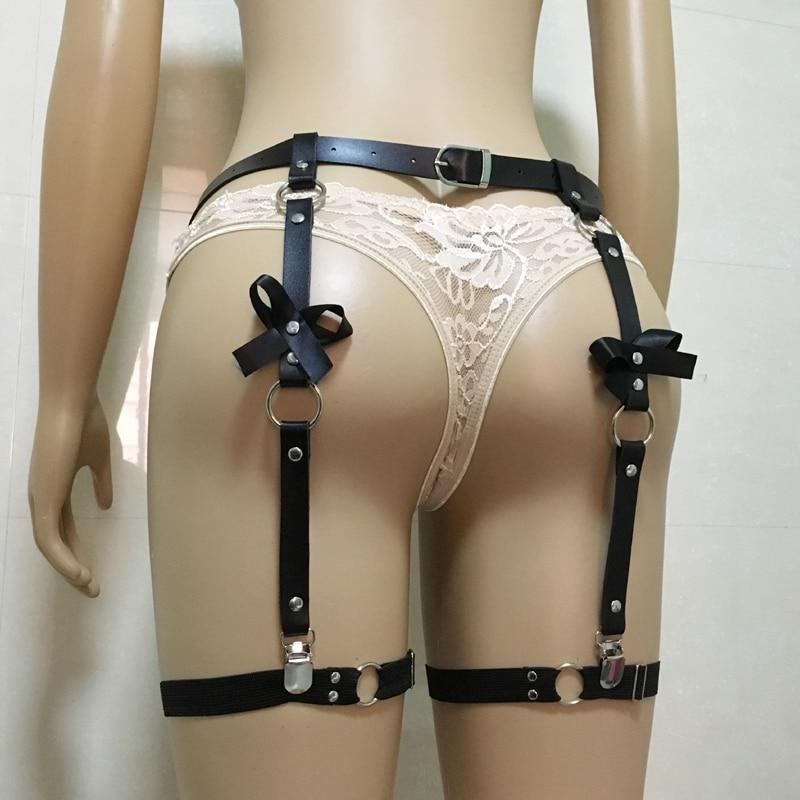 Kinky Cloth 200001886 Punk Goth Bow Garter Leg Belt