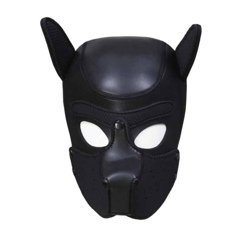 Kinky Cloth Accessories Black Puppy Play Dog Hood Mask