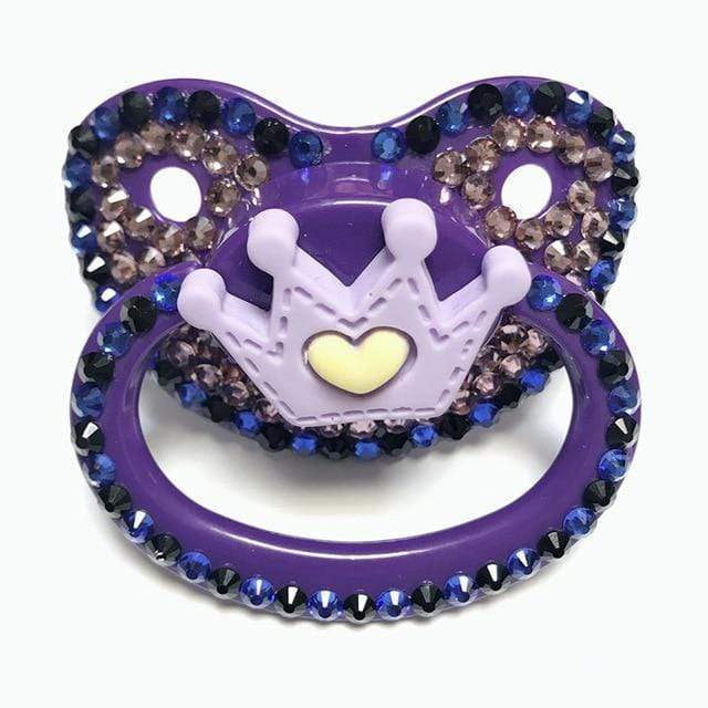 Kinky Cloth Accessories Purple Crown Adult Pacifier