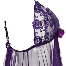 Kinky Cloth 200001895 Purple Transparent Lingerie Babydolls Dress