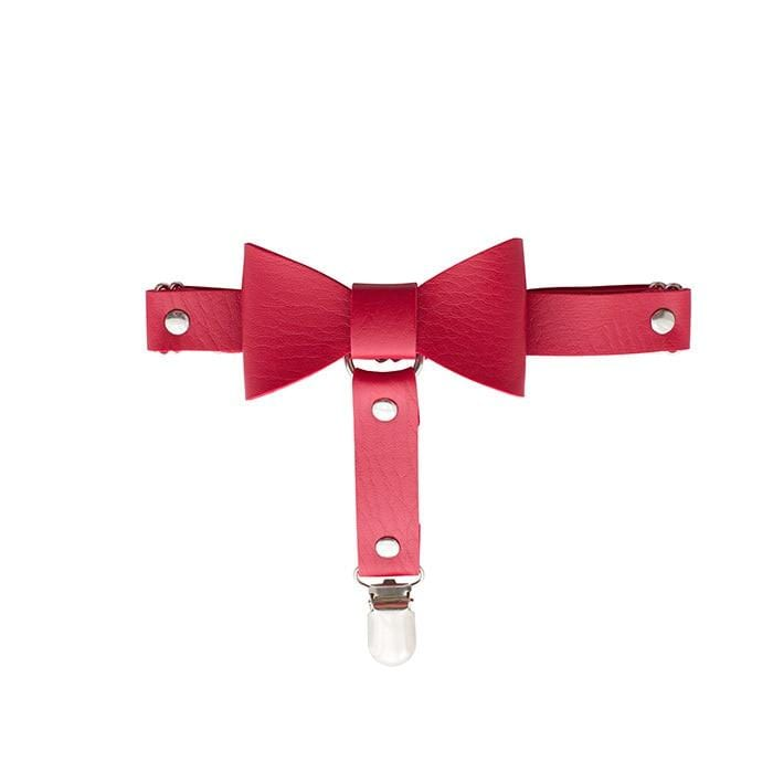 Kinky Cloth 200001886 Red Bow Leather Leg Ring Belt