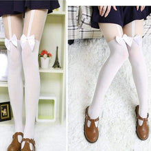 Kinky Cloth Socks Ribbon Bow Stockings