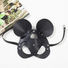 Kinky Cloth 100001831 rivet Round Ear Leather Mask Rivet Rhinestone