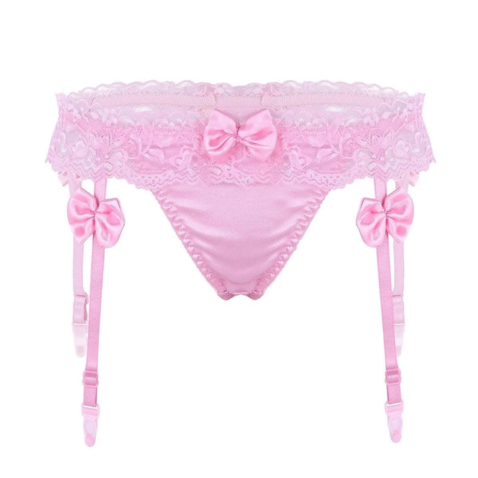 Kinky Cloth Ruffled Lace Panties Garters