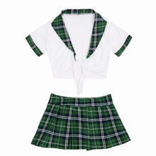 Kinky Cloth 200003986 Green White / L School Girl Knot Costume