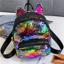 Load image into Gallery viewer, Sequin Kitten Ears Backpack