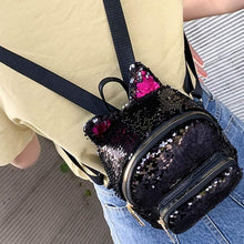 Load image into Gallery viewer, Kinky Cloth Bags & Wallets Sequin Kitten Ears Backpack