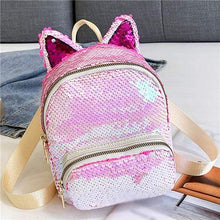 Load image into Gallery viewer, Kinky Cloth Bags & Wallets Light Pink Sequin Kitten Ears Backpack