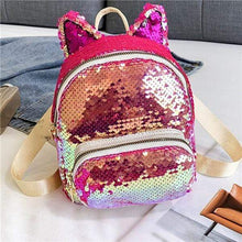 Load image into Gallery viewer, Kinky Cloth Bags & Wallets Ruby Sequin Kitten Ears Backpack