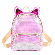 Kinky Cloth 152401 Light Pink Sequins Cat Ear Travel Backpacks