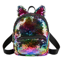 Kinky Cloth 152401 Multi Sequins Cat Ear Travel Backpacks