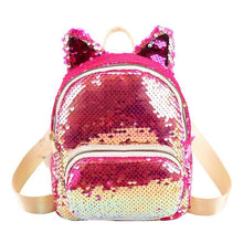 Kinky Cloth 152401 Pink Sequins Cat Ear Travel Backpacks
