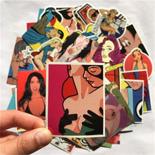 Kinky Cloth 200003295 Sexy Beautiful Girls Stickers (52 pieces)