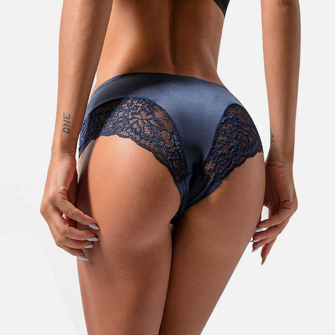 Kinky Cloth 351 Sheer Silk Lace Sided Panties