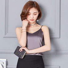 Kinky Cloth Gray / S Silk Cami Top