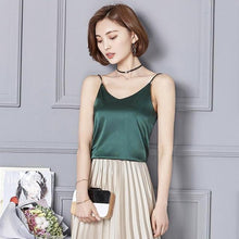 Kinky Cloth Green / S Silk Cami Top