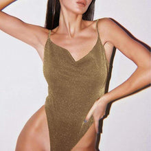 Kinky Cloth Bodysuit L / Gold Silk V Bodysuit
