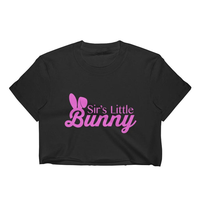 Kinky Cloth Top Crop Top - S / Black/ White Font Sir's Little Bunny Top