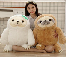 Kinky Cloth stuffed animal 50cm white Sloth Stuffie