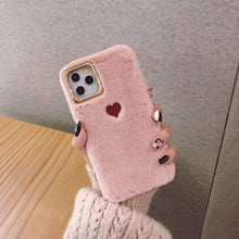 Kinky Cloth 380230 Pink / For 7 Plus or 8 Plus Soft Fluffy Heart iPhone Case