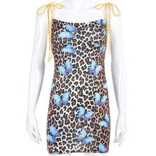 Kinky Cloth Dresses Spaghetti Strap Butterfly Leopard Dress