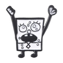 Kinky Cloth Pin Cheer BOB Spongebob Square Pants Enamel Pins