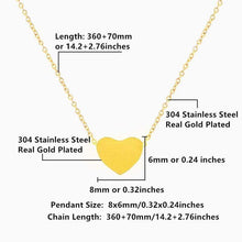 Kinky Cloth Jewelry & Watches Stainless Steel Heart Necklace