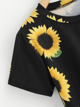 Sunflower Crop Top