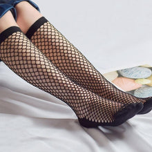 Kinky Cloth 200000866 Black2 Transparent Elastic Fishnet Stockings