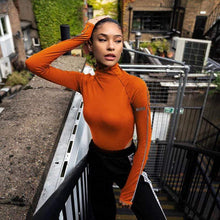 Kinky Cloth Bodysuit Orange Bodysuit / L Turtleneck Too High Bodysuit