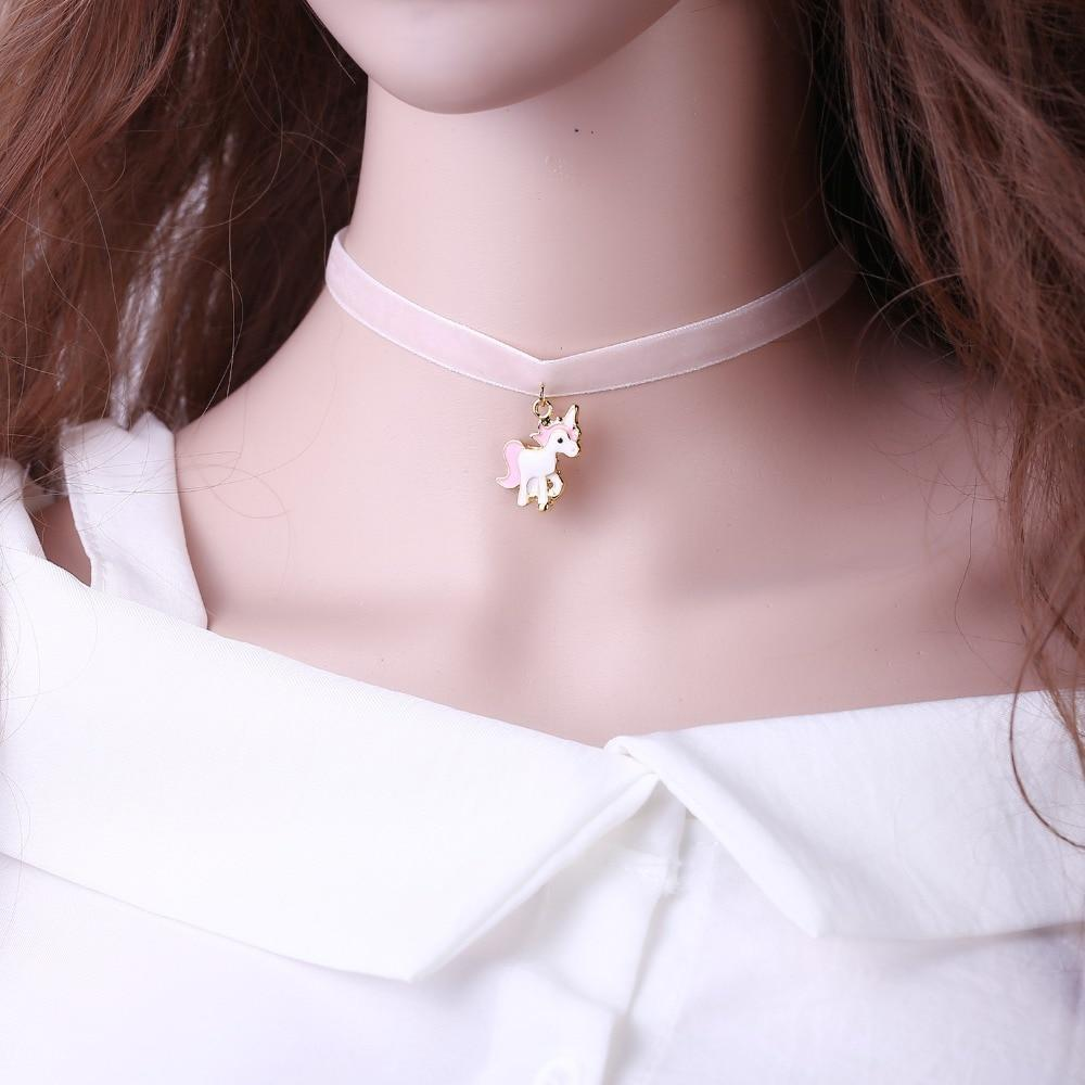 Kinky Cloth Necklace Unicorn Choker