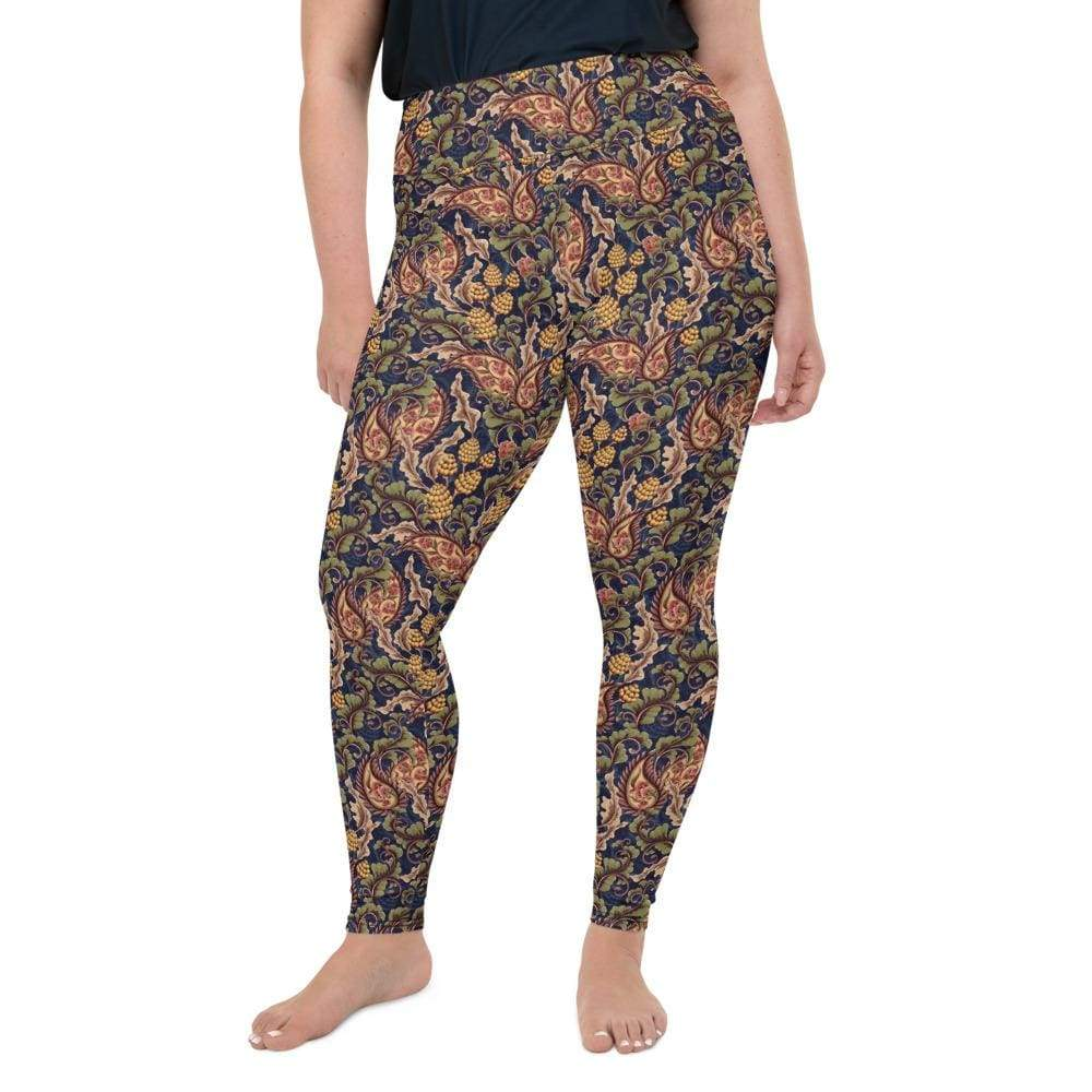 Kinky Cloth 2XL Vintage Floral Plus Size Leggings