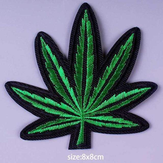 Kinky Cloth Patch Weed Leaf Patch