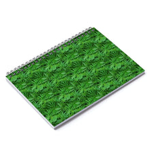 Printify Paper products Spiral Notebook Weed Leaf Spiral Notebook