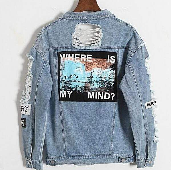 Kinky Cloth Top Blue / S Where Is My Mind Denim Jacket