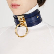 Kinky Cloth Black Wide Band Ring Collar