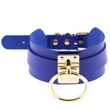 Kinky Cloth Blue Wide Band Ring Collar