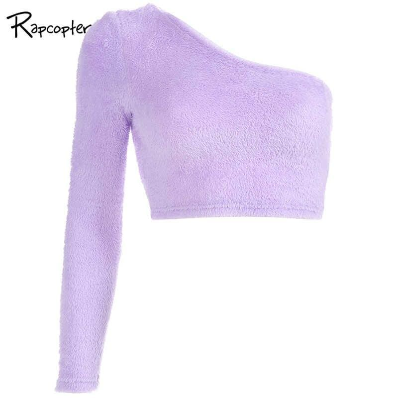 Kinky Cloth Top Lavender / L Wool One Shoulder Top