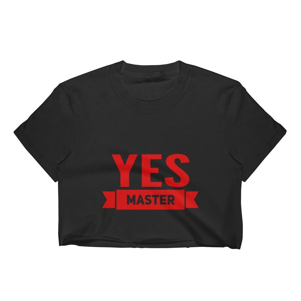 Kinky Cloth Top Crop Top - S / White/Black Font Yes Master Flag Top