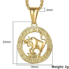 Kinky Cloth 200000162 GP358 Taurus / 18inch 45cm Chain Zodiac Sign Gold Pendant Necklace