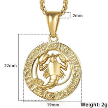 Kinky Cloth 200000162 GP360 Cancer / 18inch 45cm Chain Zodiac Sign Gold Pendant Necklace
