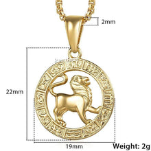 Kinky Cloth 200000162 GP361 Leo / 18inch 45cm Chain Zodiac Sign Gold Pendant Necklace