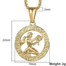 Kinky Cloth 200000162 GP362 Virgo / 18inch 45cm Chain Zodiac Sign Gold Pendant Necklace
