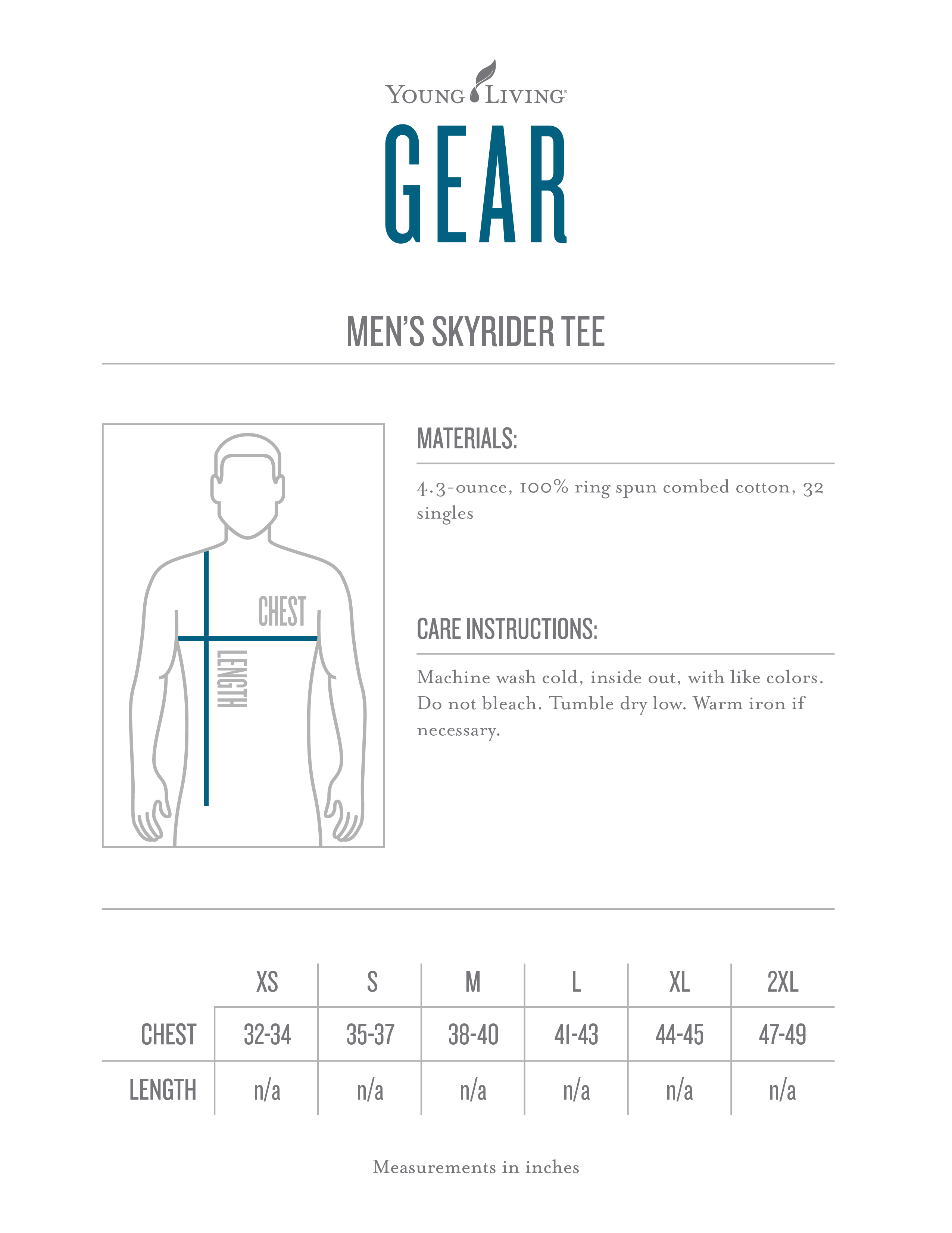 Mens skyrider ranch tee younglivinggear size chart nvjuhfo Images